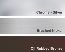 Color Hardware Chrome | Brushed Nickel | Oil Rubbed Bronze