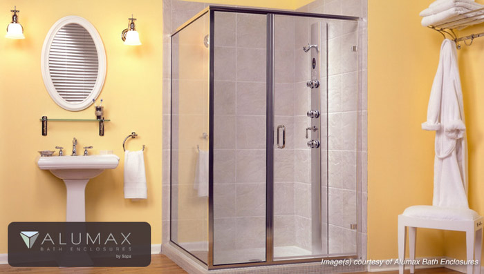 Alumax Shower Enclosures Fabricated by Glaz Tech Ind