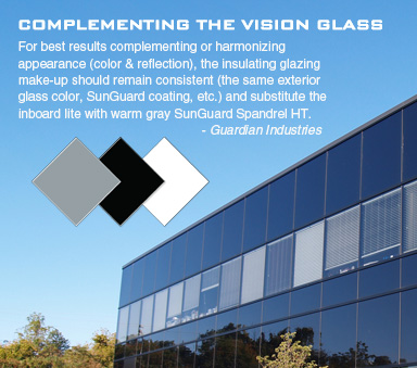 Spandrel HT Complementing the Vision Glass